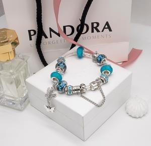 Pandora blue butterfly bracelet set